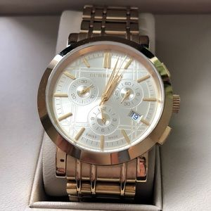 Gold Burberry watch